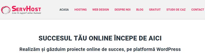 Headline atractiv - structura de homepage