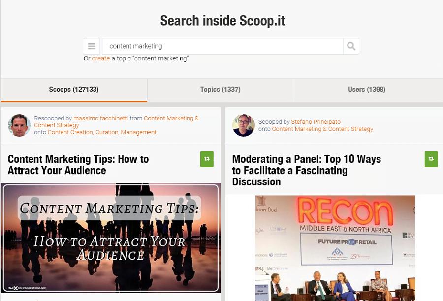 scoop it content curating