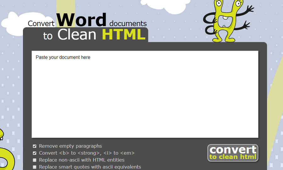 word to clean html