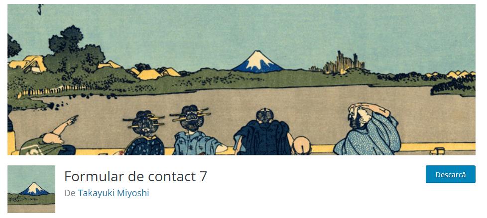 cum se foloseste contact form 7