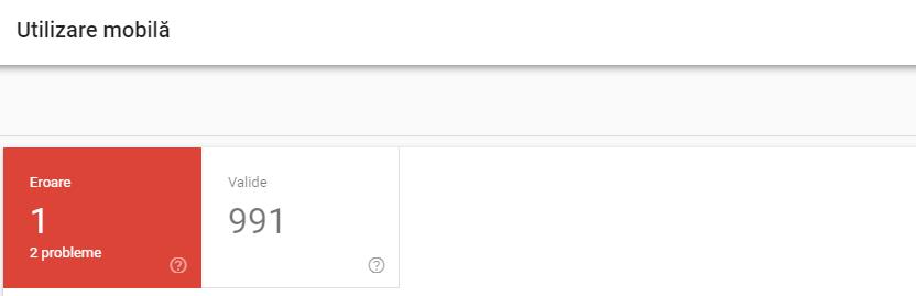 utilizare mobila search console